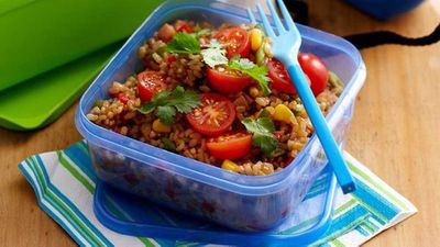 "Recipe: <a href=""http://kitchen.nine.com.au/2016/05/16/13/06/fried-rice-salad"" target=""_top"">Fried rice salad</a>"