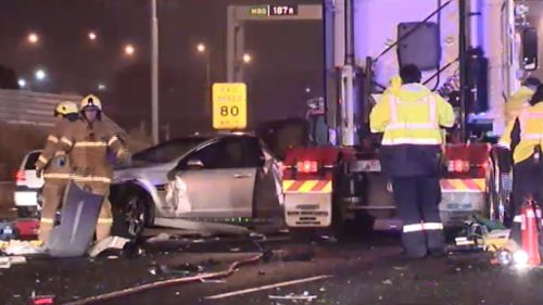 Crashes close same stretch of Melbourne road twice in one day