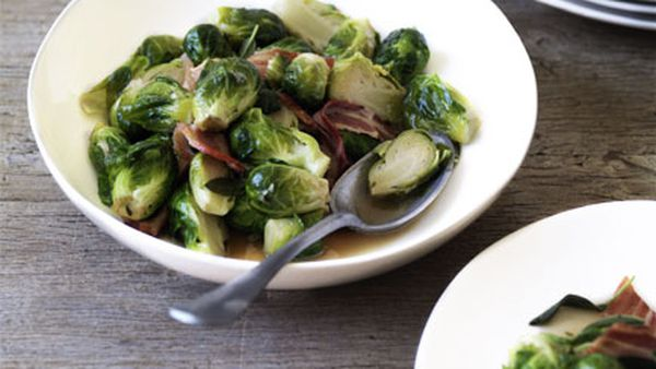 Pancetta and Brussels sprouts