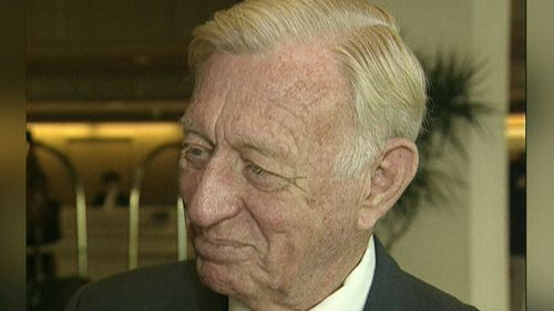 Former Lord Major Clem Jones bequeathed $5 million to the drive to introduce voluntary euthanasia in Queensland in his will. (9NEWS)