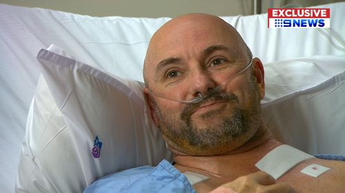 Paul Foster had custom-made stents inserted through keyhole incisions.