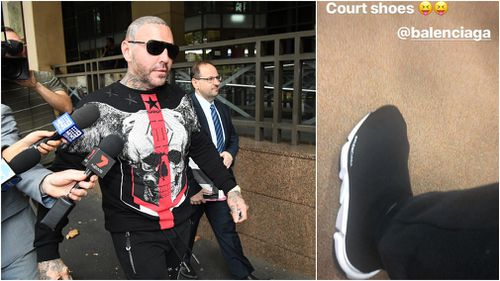 Mitchell chose to wear designer threads for his day in court- including Balenciaga sneakers. (Instagram)