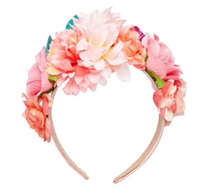 """<a href=""""http://www.sportsgirl.com.au/new-in/accessories/pink-floral-headband-pink-all"""" target=""""_blank"""">Sportsgirl Pink Floral Headband, $24.95.</a>"""
