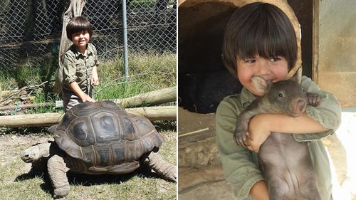 Charlie parents own the park and he has grown up helping out with the animals. (Facebook)