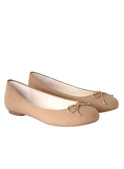"<a href=""https://www.sambag.com.au/new-arrivals/tina-wool.html"" target=""_blank"">Sambag Tina Wool Camel Ballet Flats, $190.</a><br>"