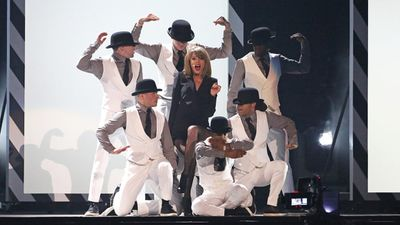 Taylor Swift performed her second single 'Blank Space' released from her latest album '1989'. (Getty)