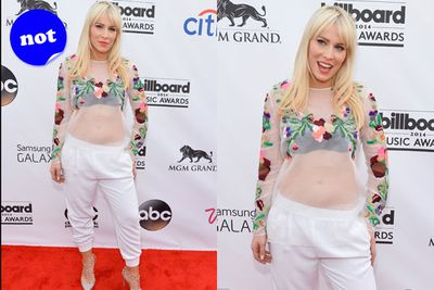 TheFIX have agreed... there is nothing we can salvage from Natasha Bedingfield's outfit. Except maybe those shoes.