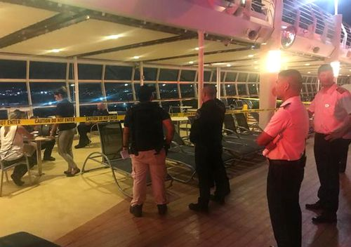 The family of Chloe Wiegand, the 18-month-old Indiana girl who fell to her death from the 11th storey of a cruise ship in Puerto Rico, supplied this photo of the scene inside the Freedom of the Seas.