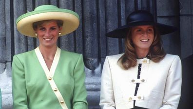 Princess Diana and Sarah Ferguson in 1990