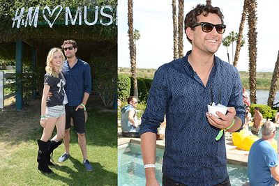 <i>Dawson's Creek</i> star Joshua Jackson and wifre Diane Kruger attend Coachella's LACOSTE L!VE 4th Annual Desert Pool Party.