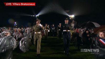 Villers-Bretonneux lies in north France. (9NEWS)