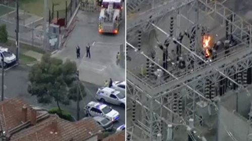 Authorities are at the Richmond substation. (9NEWS)