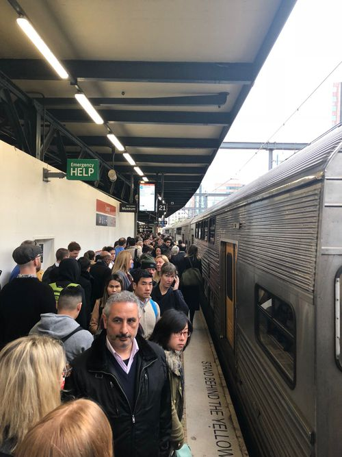 The trackwork caused lengthy delays for commuters heading into the city.