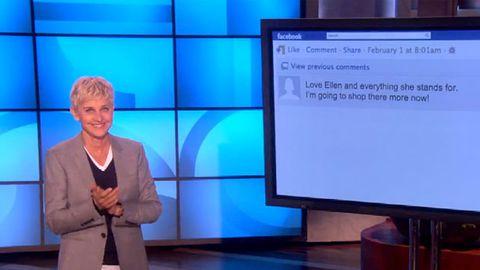 Ellen confronts her haters