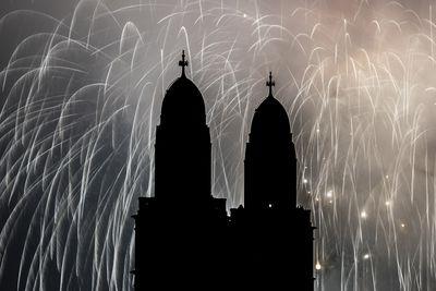 New Year's Eve fireworks in Zurich, Switzerland.