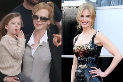 Nicole chooses a more casual outfit for family time and shines in L'Wren Scott for the Academy Awards.