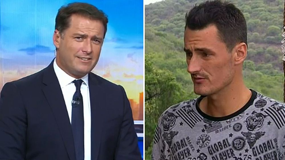 Today host Karl Stefanovic gives 'annoying' Bernard Tomic a serve, tells him to get help