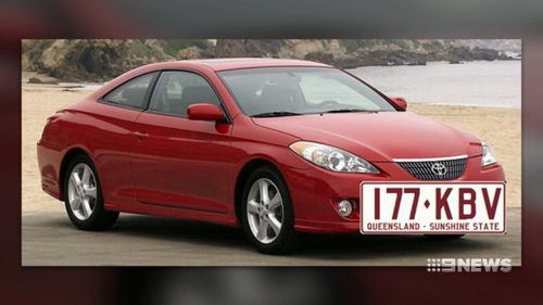 When the family was on the phone to police reporting the first car theft, the thieves allegedly returned to steal a second car - a red Toyota Camry (Supplied).