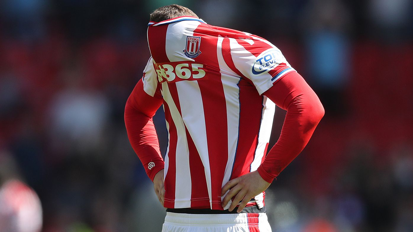 Stoke City relegated from English Premier League after loss to Crystal Palace