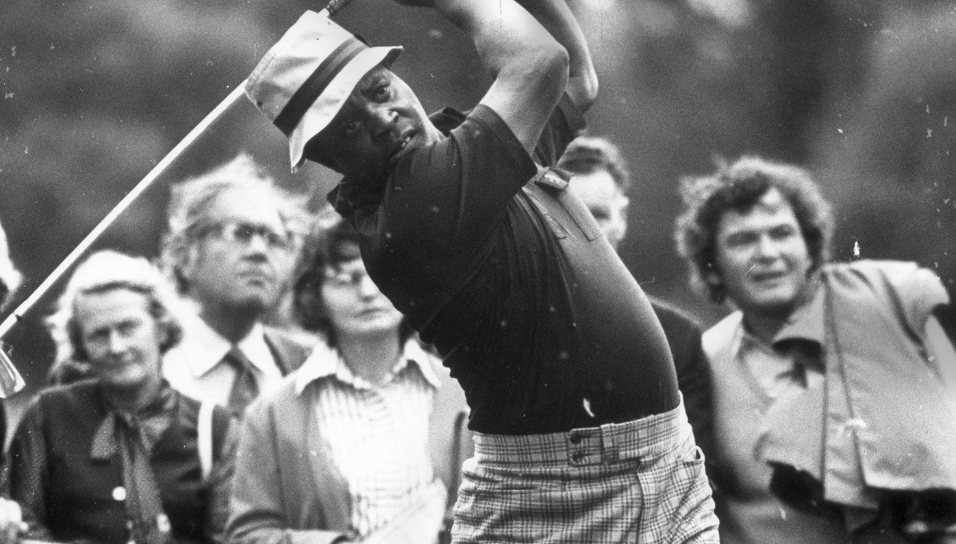 Lee Elder during his playing days. He was first African-American to play in the Masters.