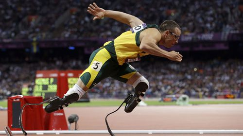 Oscar Pistorius at the London Olympics. (AAP)