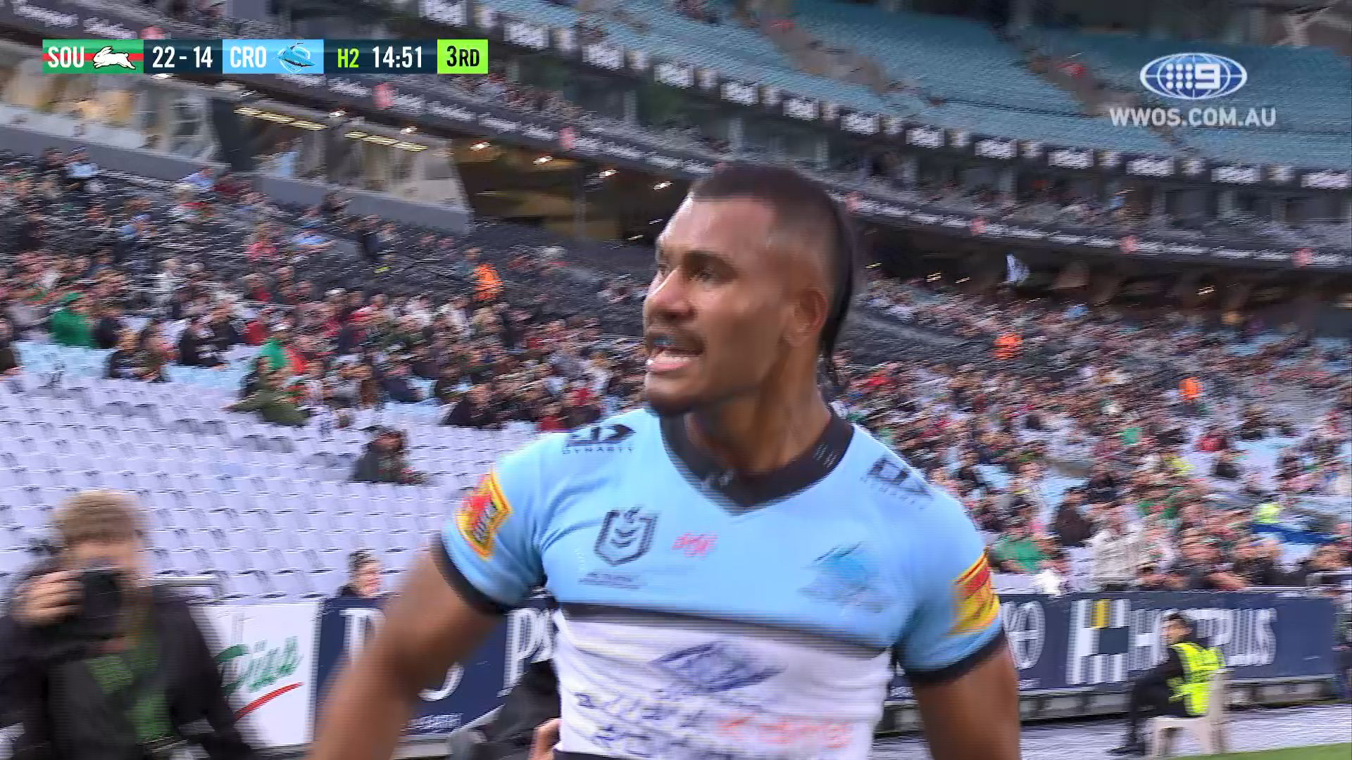South Sydney  hold off Cronulla Sharks' late charge in NRL