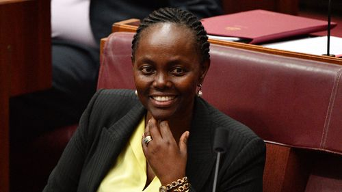 Liberal Senator Lucy Gichuhi in the Senate chamber at Parliament House.