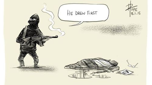 Mightier than the sword: The world's cartoonists pay tribute to victims of Paris shootings (Gallery)