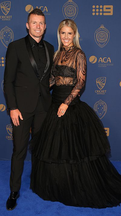 Peter Siddle and his partner Anna Weatherlake.