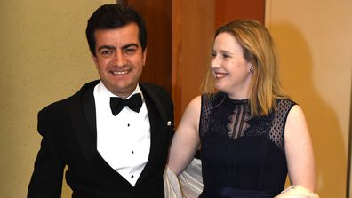 Sam Dastyari and wife Helen Barron
