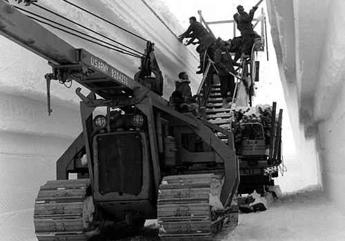 US Army engineers during the construction of Camp Century in Greenland. (Photo: Getty Images).
