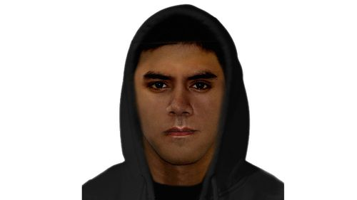 Police are searching for a man matching this description for an attempted robbery and robbery in Melbourne's northern suburbs. (Victoria Police)