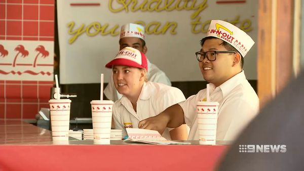 Hundreds of burger-lovers line up for In-N-Out pop up