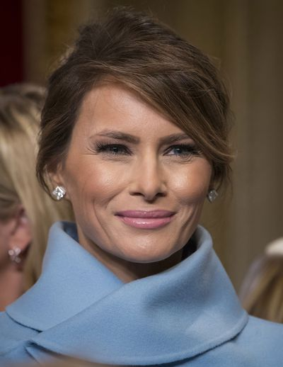 Melania's diamond earrings
