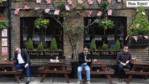 Pubs across Windsor are getting into the wedding spirit. (Getty)