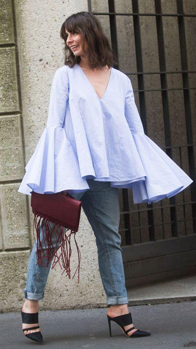 Last season: Vintage denim jackets<br>This season: Light-wash jeans