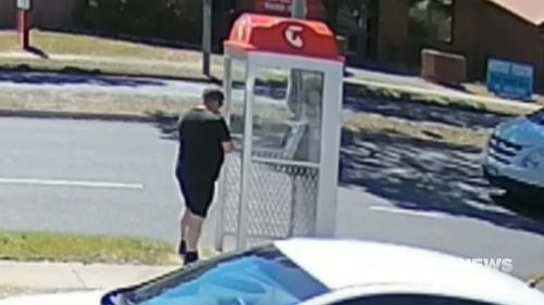 CCTV images show Phillip Zillner calling parents to tell them their children had been killed.