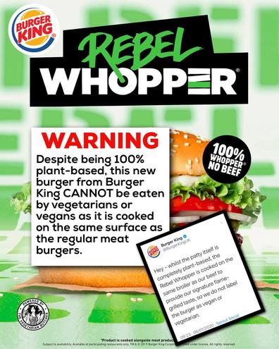 Burger King Rebele Whopper