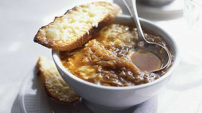 <strong>French onion soup</strong>