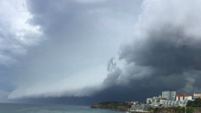The storm rolls in across Sydney. (Supplied: Lucy Nielson-Jones)