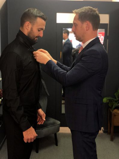 Nic MAFS suit fitting local business