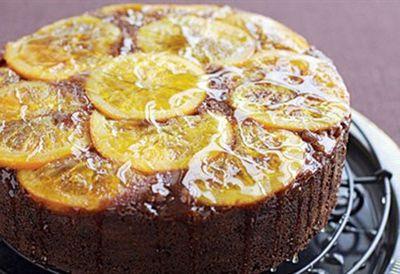 Chocolate orange polenta cake