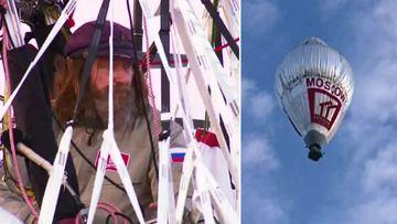 Fedor Konyukhov, and his hot air balloon. (9NEWS)