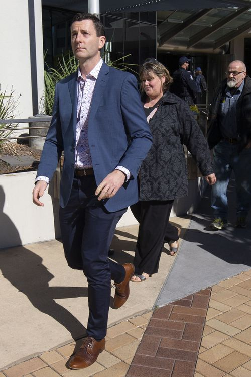 Cindy Low's husband also attended the first day of the inquest. Picture: AAP