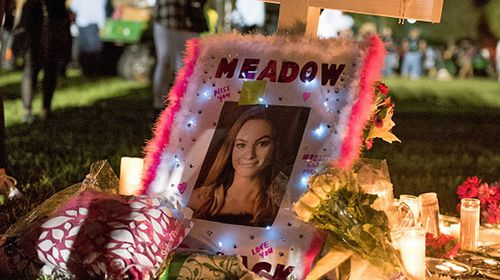 A tribute to Meadow Pollack, killed in the Marjory Stoneman Douglas High School shooting. (Photo: Getty).