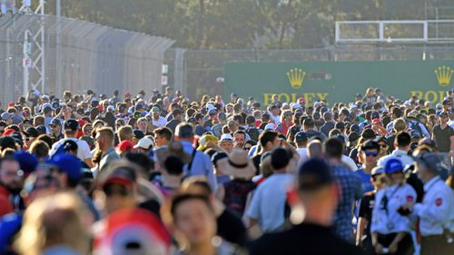 Around 300,000 people are expected to come through the gates. (AAP)