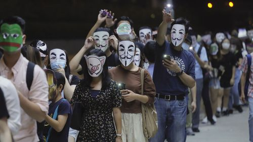 Hong Kong masked protests 3