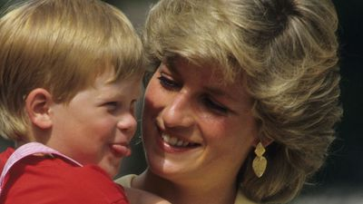 Princess Diana with Prince Harry, 1987