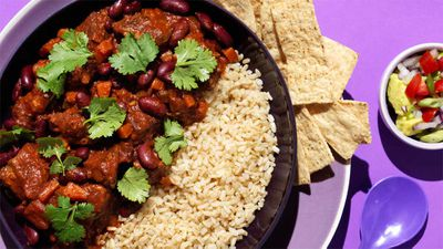 "Recipe:&nbsp;<a href=""http://kitchen.nine.com.au/2017/03/10/15/51/lamb-chilli-con-carne"" target=""_top"" draggable=""false"">Lamb chilli con carne</a>"