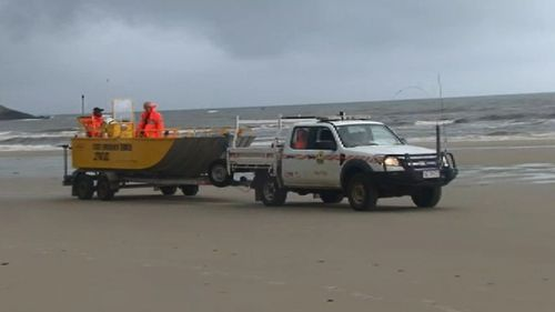 SES volunteers have combed the beach. (9NEWS)